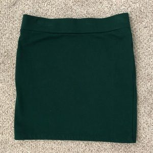 Teal Bodycon Mini Skirt